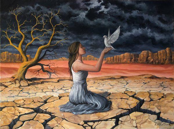 Peace and faith painting