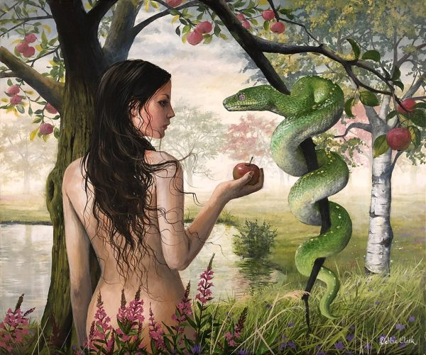 Eve and the Serpent painting