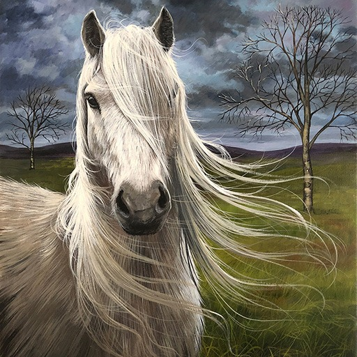 Horse with a Flowing Mane
