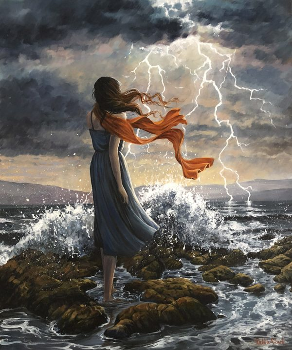 Lady in a Lightning Storm