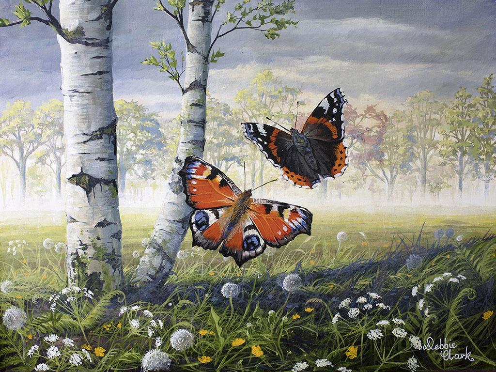 Dancing butterflies painting