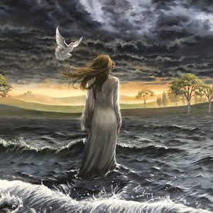 Walking in the storm painting