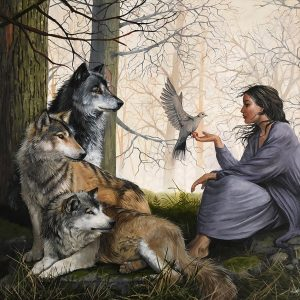 Woman in the Midst of Wolves