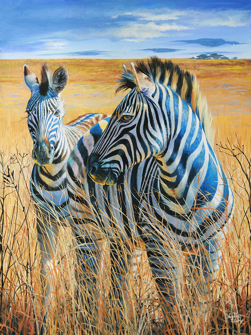 Zebras in the Grass Painting